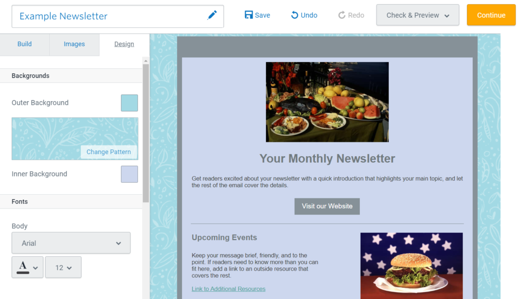 change design of your email newsletter