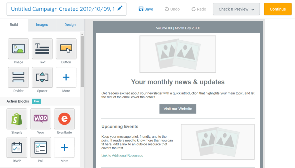customize your email newsletter