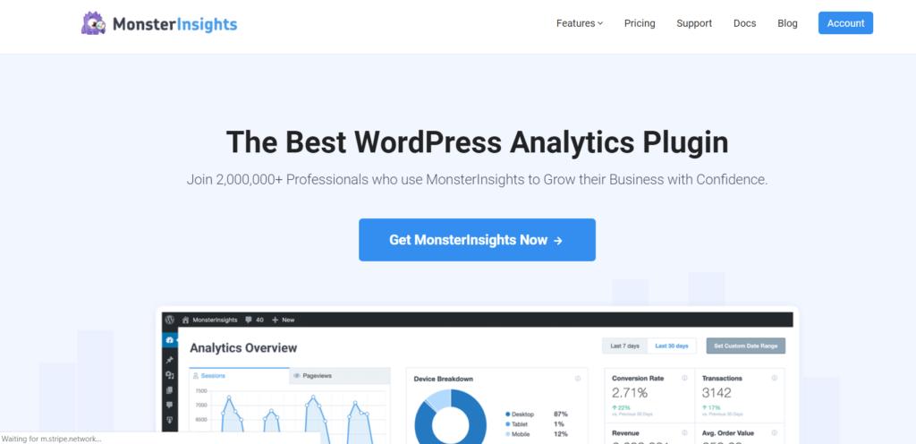monsterinsights best google keyword planner alternative